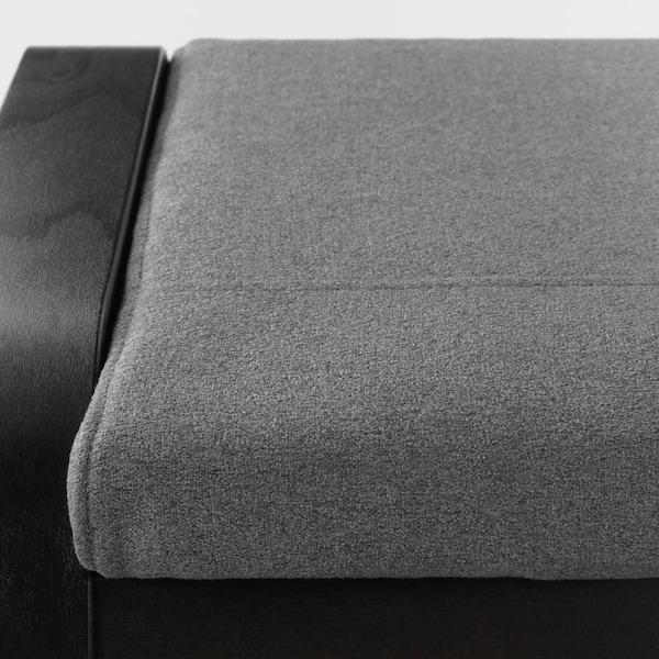 POÄNG footstool black-brown/Lysed grey 68 cm 54 cm 39 cm 54 cm 54 cm 38 cm