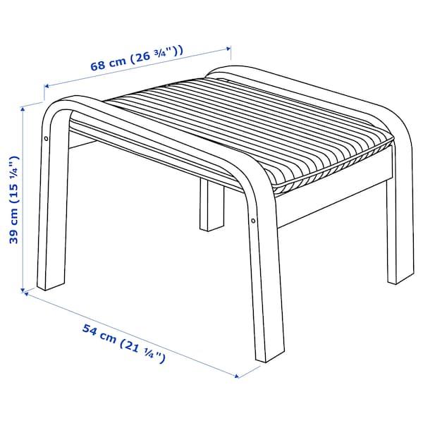 POÄNG footstool birch veneer/Hillared anthracite 68 cm 54 cm 39 cm