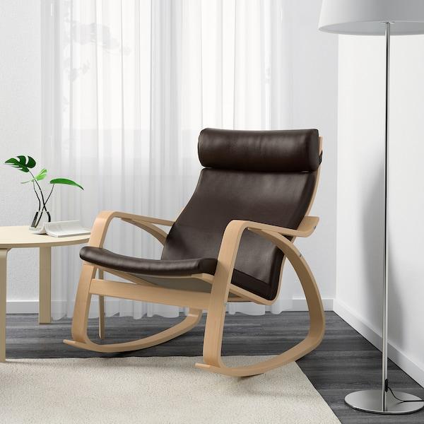 POÄNG rocking-chair birch veneer/Glose dark brown 68 cm 94 cm 95 cm 56 cm 50 cm 45 cm
