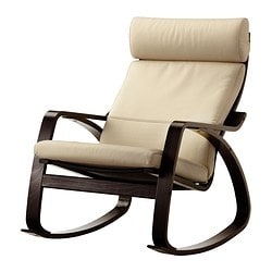 POÄNG rocking-chair, black-brown, Robust Glose eggshell