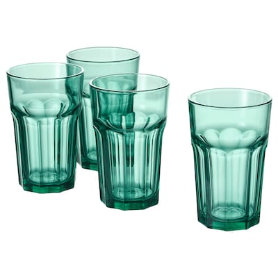 POKAL Glass, green, 35 cl
