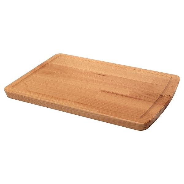 PROPPMÄTT Chopping board, rubberwood, 38x27 cm