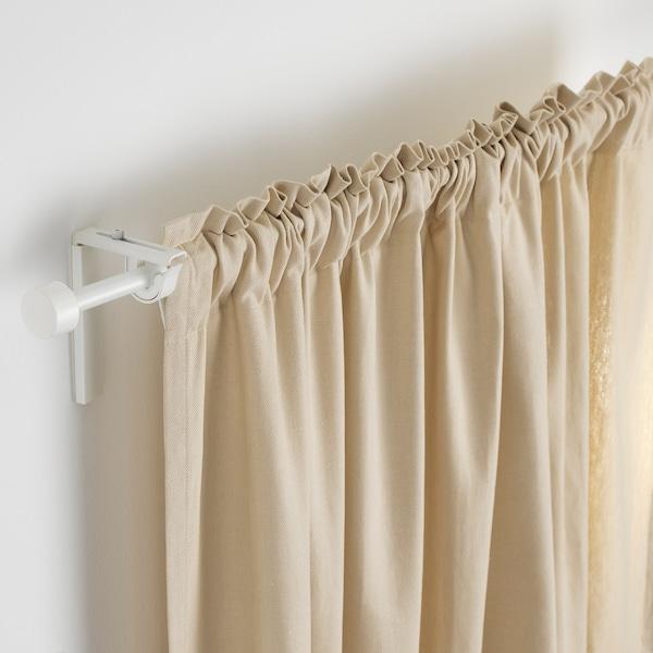 RÄCKA Curtain rod combination, white, 120-210 cm
