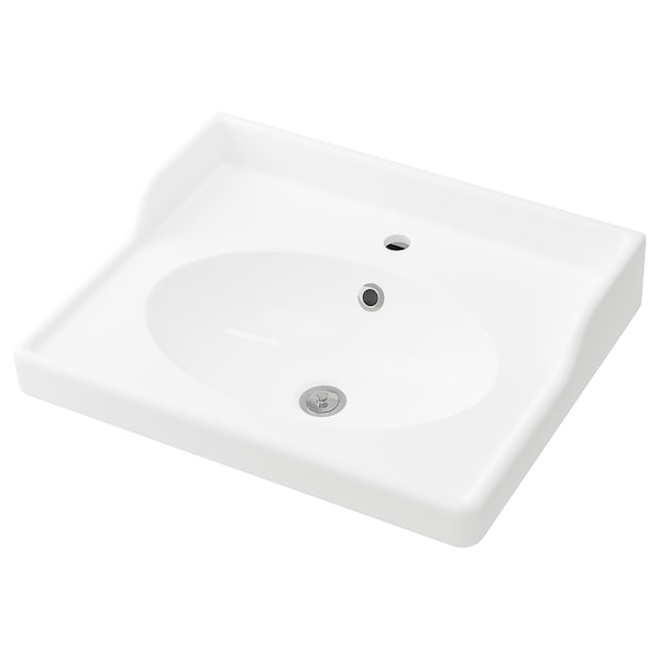RÄTTVIKEN single wash-basin white 62 cm 60 cm 49 cm 10 cm 6 cm