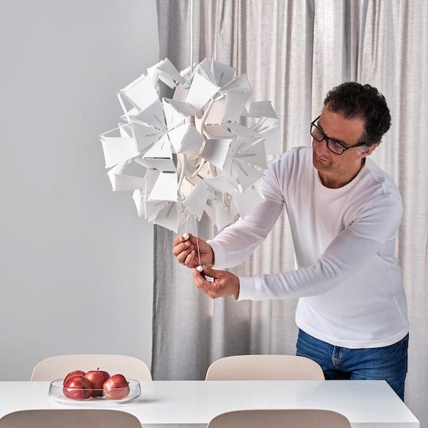 RAMSELE pendant lamp geometric/white 16 W 52 cm 43 cm 1.4 m