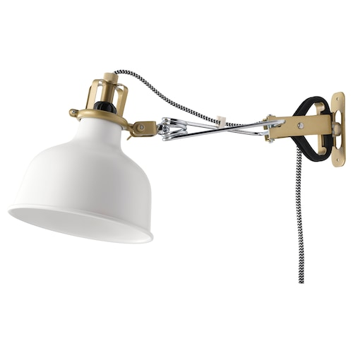 RANARP wall/clamp spotlight off-white 7 W 14 cm 34 cm 12 cm 14 cm 350.0 cm
