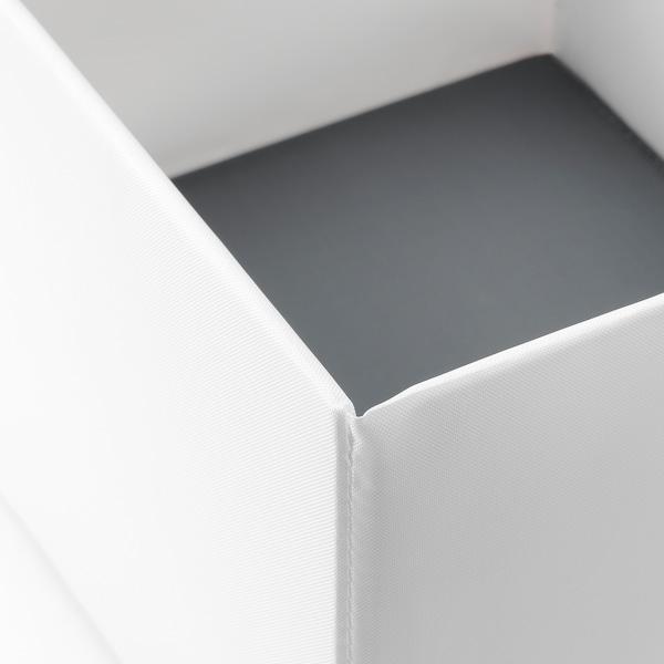 RASSLA Box with compartments, white, 25x41x16 cm