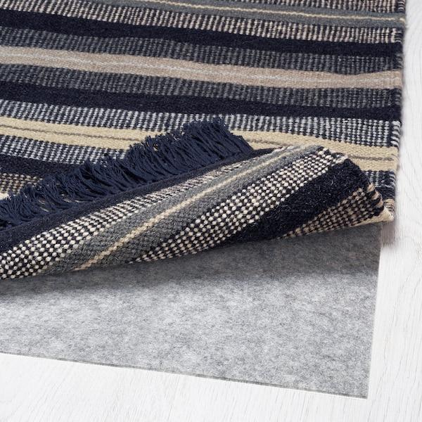 RÅVAROR Rug, flatwoven, dark blue, 90x155 cm