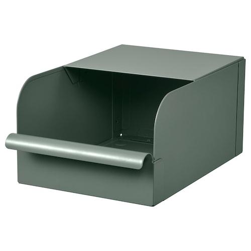 REJSA box grey-green/metal 17.5 cm 25.0 cm 12.5 cm