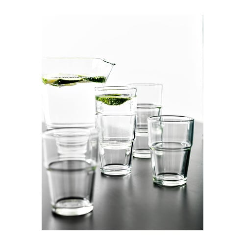 REKO Glass IKEA Stackable; saves space when stored.