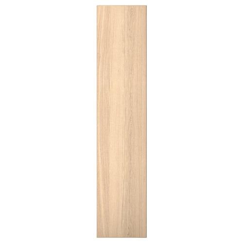 REPVÅG door with hinges white stained oak veneer 49.5 cm 229.4 cm 236.4 cm 1.8 cm