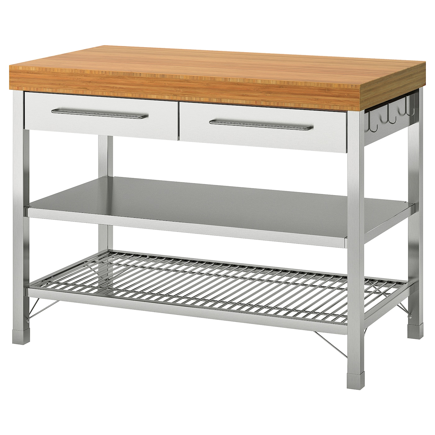 RIMFORSA Work bench - stainless steel/bamboo 5x5.5x5 cm