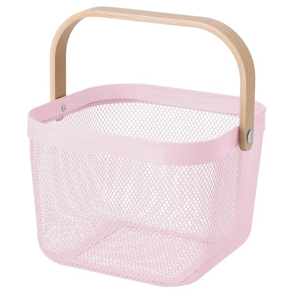RISATORP basket light pink 25 cm 26 cm 18 cm