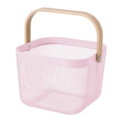 RISATORP basket, light pink