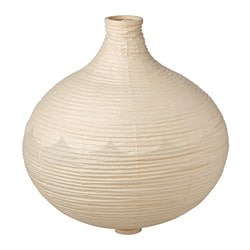 RISBYN pendant lamp shade, onion shape, beige