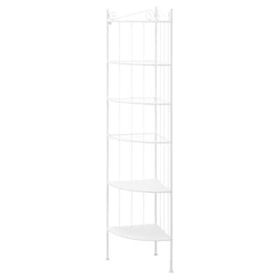 RÖNNSKÄR Corner shelf unit, white