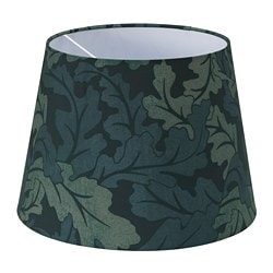 RYRA lamp shade, dark green leaves