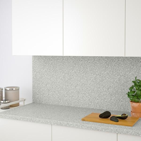 SÄLJAN Worktop, light grey mineral effect/laminate, 186x3.8 cm