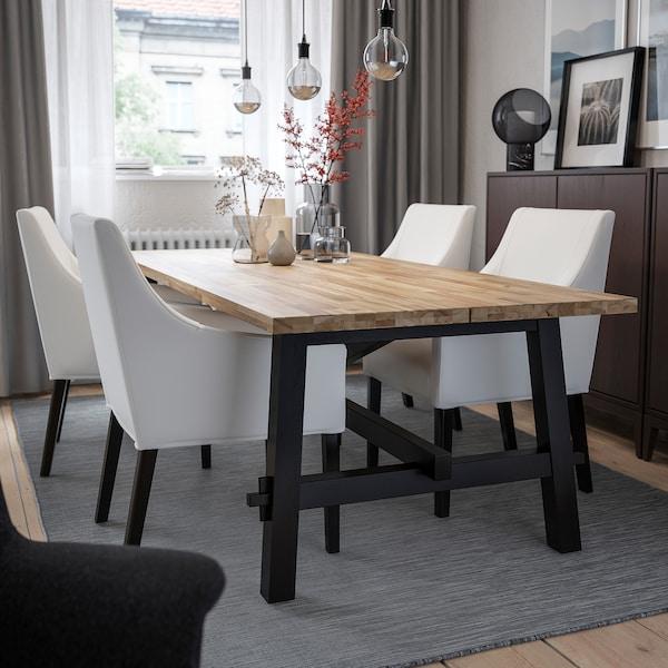 SAKARIAS chair with armrests black/Inseros white 110 kg 60 cm 67 cm 96 cm 42 cm 47 cm 52 cm