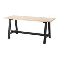 SÄLLSKAP dining table, black, pine