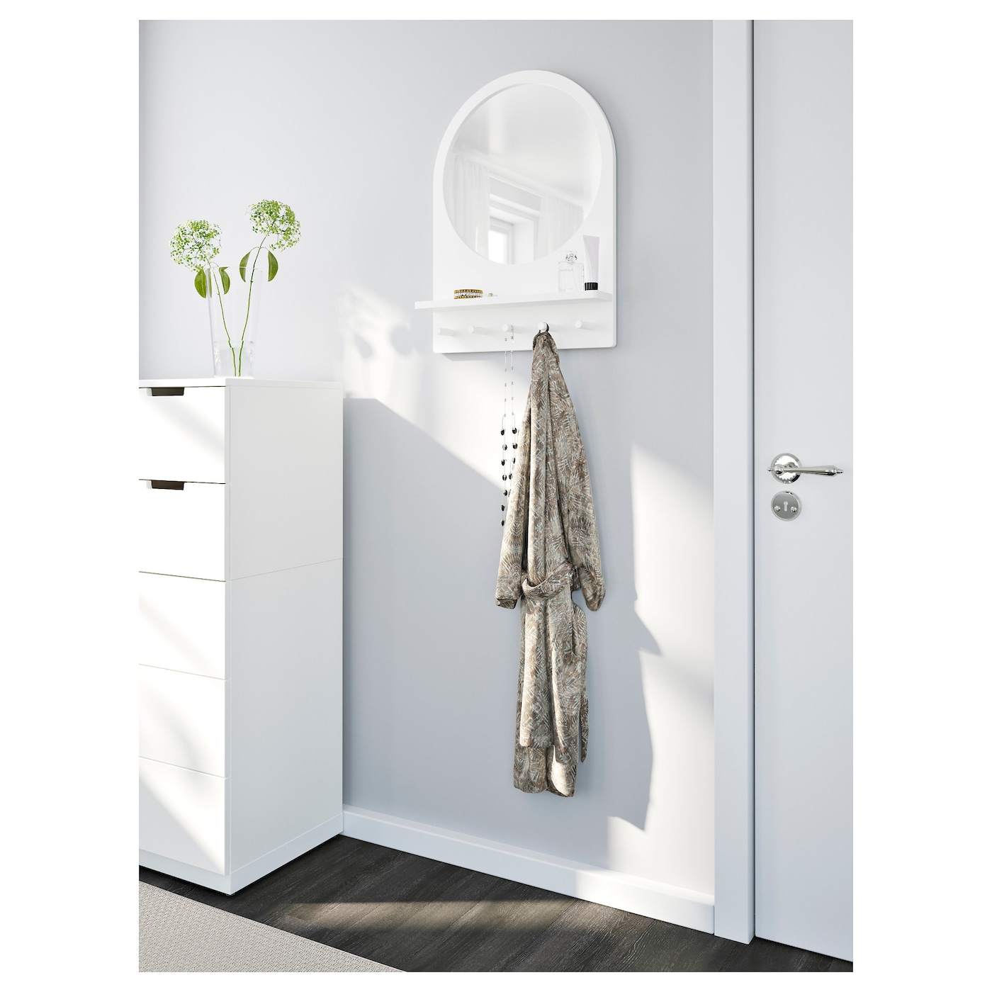 SaltrÖd Mirror With Shelf And Hooks