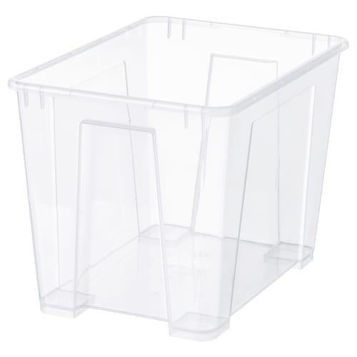 SAMLA Box, transparent, 39x28x28 cm/22 l
