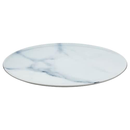 SAMSTÄMMIG serving plate white/printed 32 cm
