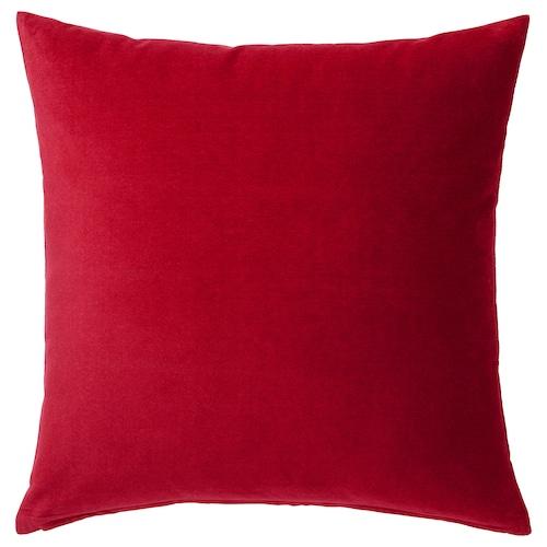 SANELA cushion cover red 50 cm 50 cm