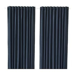 SANELA room darkening curtains, 1 pair, dark blue
