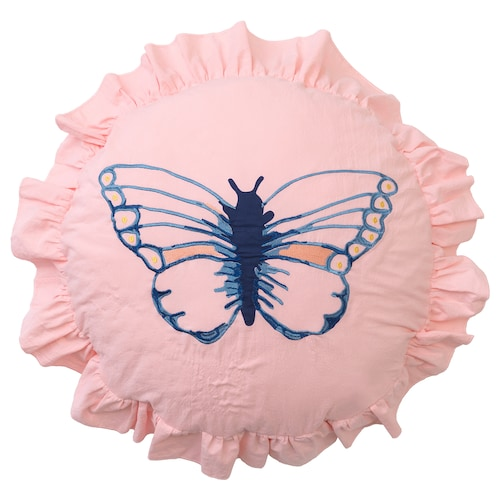 SÅNGLÄRKA cushion butterfly patterned 40 cm 250 g 270 g