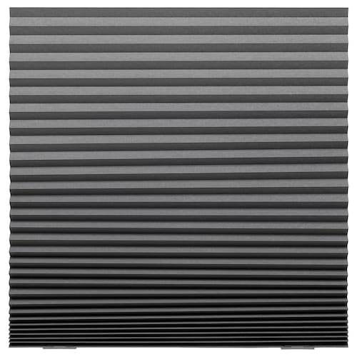 SCHOTTIS block-out pleated blind dark grey 190 cm 100 cm 1.90 m²