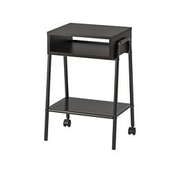 SETSKOG bedside table, black