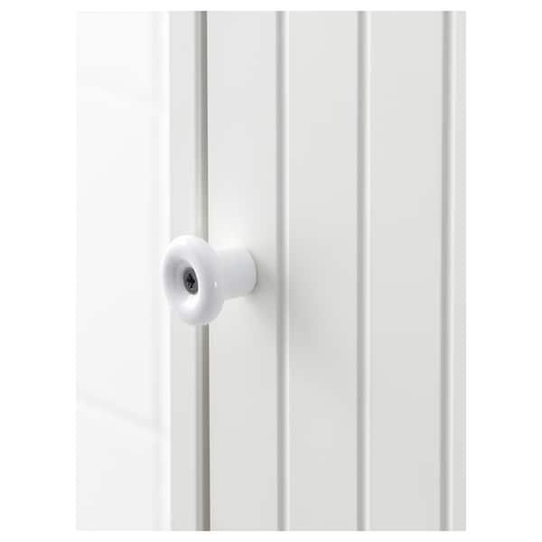SILVERÅN / HAMNVIKEN Wash-basin cabinet with 1 door, white/Runskär tap, 43x45x91 cm