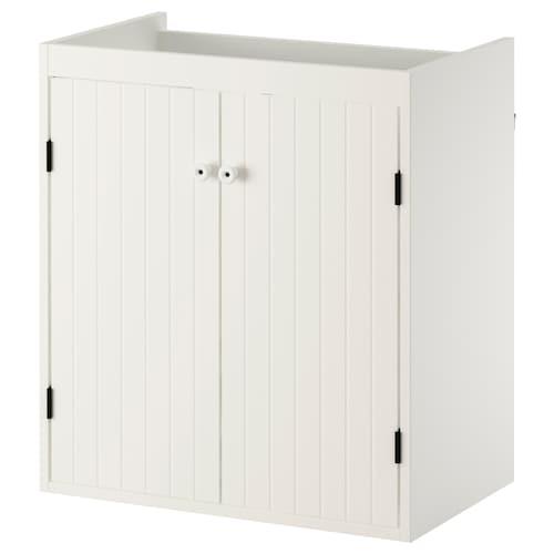 SILVERÅN wash-basin cabinet with 2 doors white 60 cm 38 cm 67.6 cm