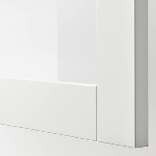 SINDVIK Glass door, white/clear glass, 60x38 cm