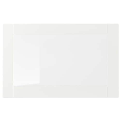 SINDVIK glass door white/clear glass 60 cm 38 cm