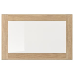 Colour: White stained oak effect/clear glass.