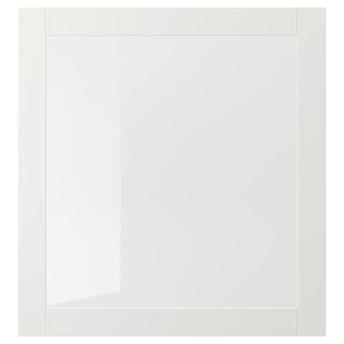 SINDVIK glass door white/clear glass 60 cm 64 cm