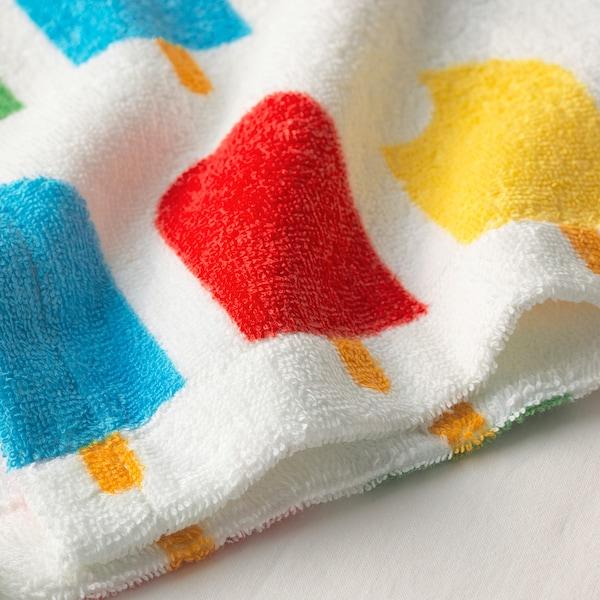 SJÖLEJON bath robe ice lolly stick patterned 110 cm 380 g/m²
