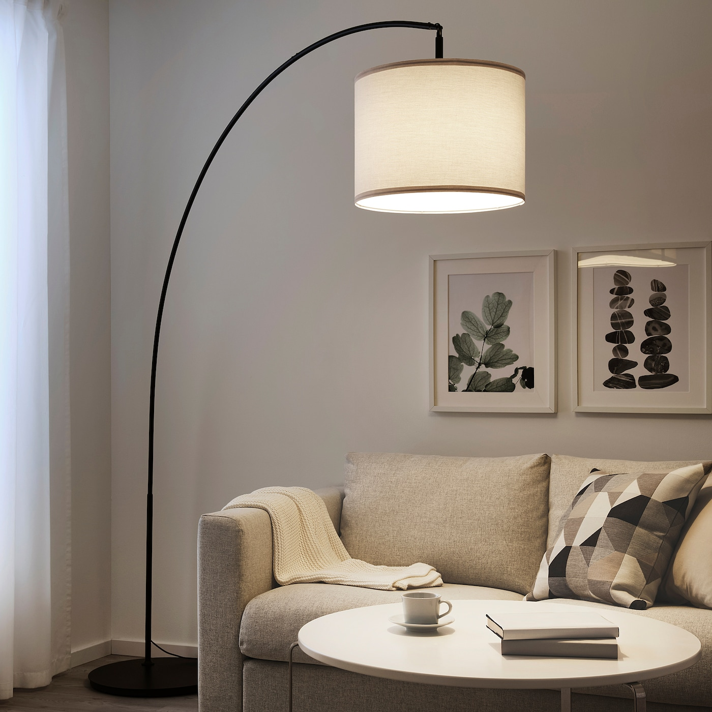 Picture of: Skaftet Floor Lamp Base Arched Black Ikea