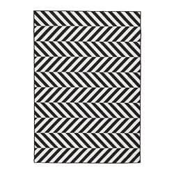 SKARRILD rug flatwoven, in/outdoor, white, black