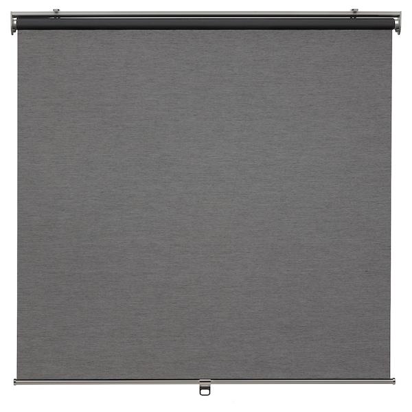 SKOGSKLÖVER Roller blind, grey, 100x195 cm