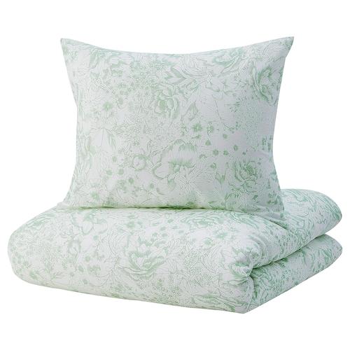 SKOGSSTARR quilt cover and 2 pillowcases green 106 /inch² 2 pack 230 cm 200 cm 50 cm 80 cm