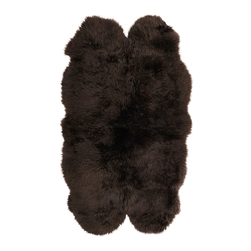 SKOLD sheepskin dark brown 160 cm 92 cm 5 cm