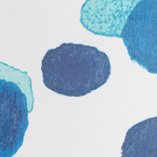 SKORREN shower curtain white/blue 60 g/m² 200 cm 180 cm 3.60 m² 60 g/m²
