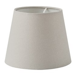 SKOTTORP lamp shade, light grey
