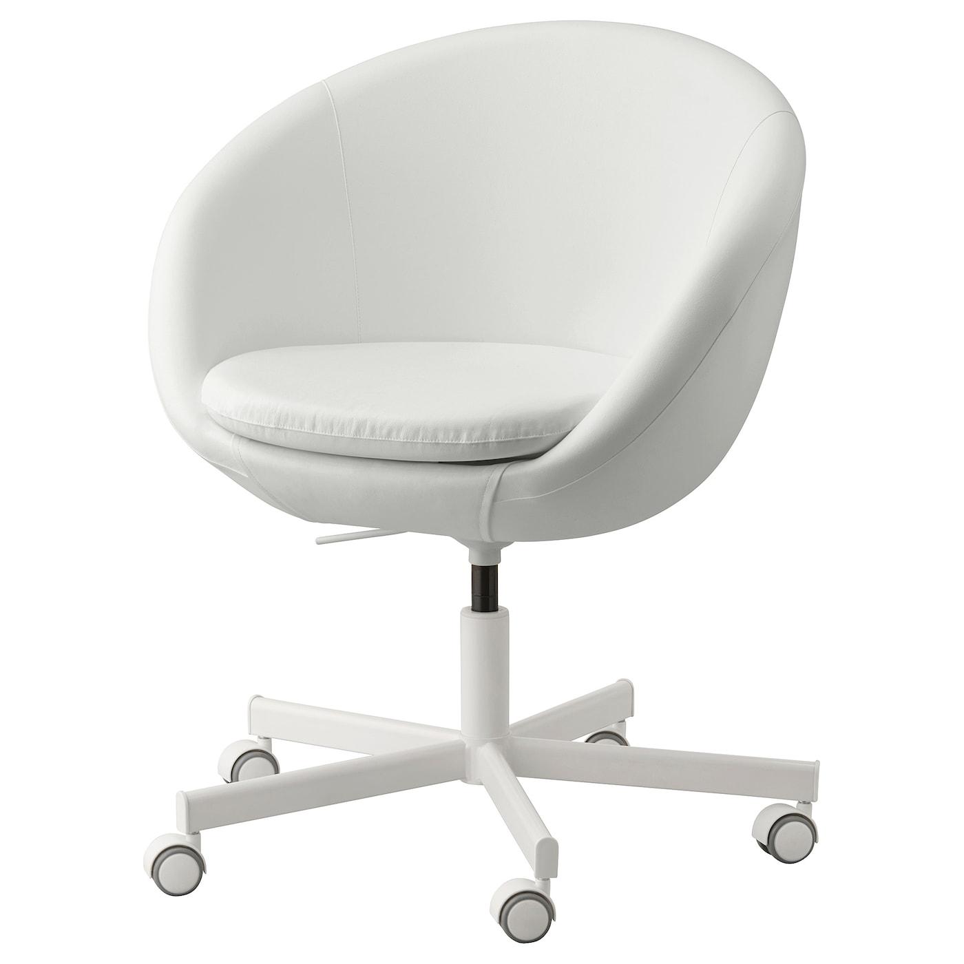 Skruvsta Swivel Chair Ysane White Ikea