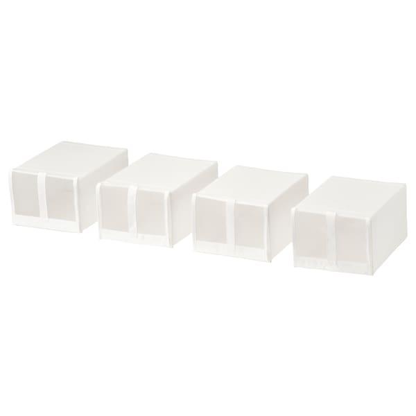 SKUBB shoe box white 22 cm 34 cm 16 cm 4 pack