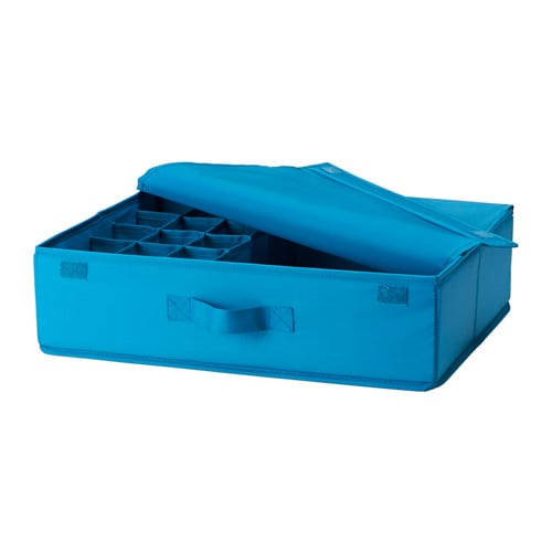 skubb storage case with 16 compartments turquoise ikea. Black Bedroom Furniture Sets. Home Design Ideas