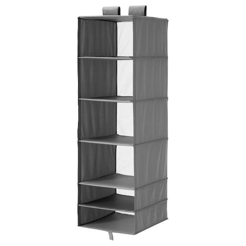SKUBB storage with 6 compartments dark grey 35 cm 45 cm 125 cm